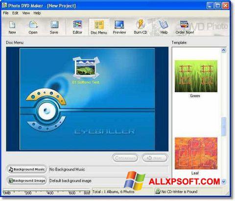 Ekrānuzņēmums DVD Maker Windows XP