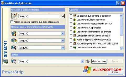 Ekrānuzņēmums PowerStrip Windows XP