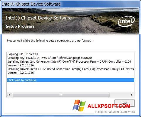 Ekrānuzņēmums Intel Chipset Device Software Windows XP