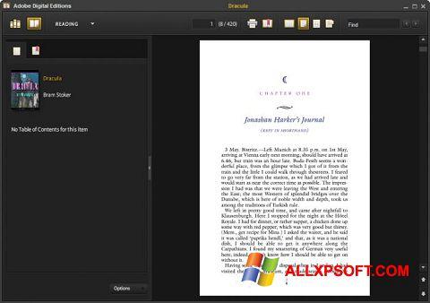 Ekrānuzņēmums Adobe Digital Editions Windows XP