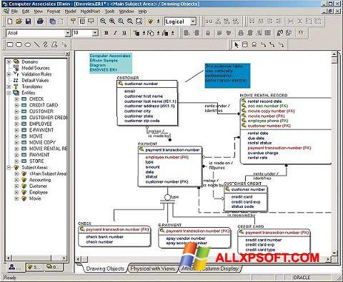 Ekrānuzņēmums ERWin Windows XP