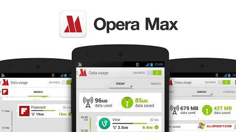 Ekrānuzņēmums Opera Max Windows XP