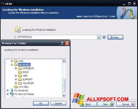 Ekrānuzņēmums nLite Windows XP