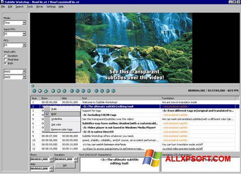Ekrānuzņēmums Subtitle Workshop Windows XP