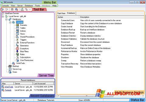 Ekrānuzņēmums InterBase Windows XP
