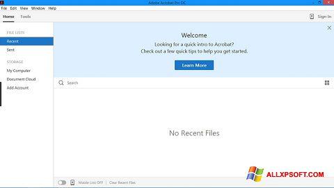Ekrānuzņēmums Adobe Acrobat Pro Windows XP
