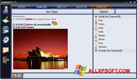 Ekrānuzņēmums CommFort Windows XP