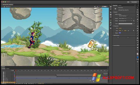 Ekrānuzņēmums Adobe Flash Professional Windows XP