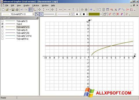 Ekrānuzņēmums Advanced Grapher Windows XP