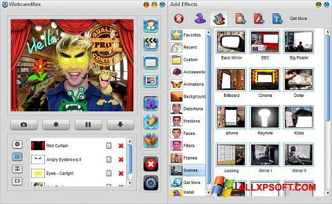 Ekrānuzņēmums WebcamMax Windows XP