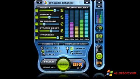 Ekrānuzņēmums DFX Audio Enhancer Windows XP
