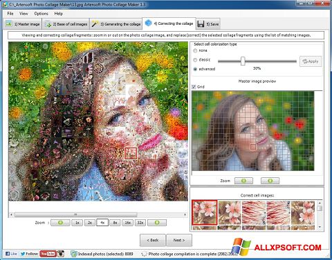 Ekrānuzņēmums Photo Collage Windows XP