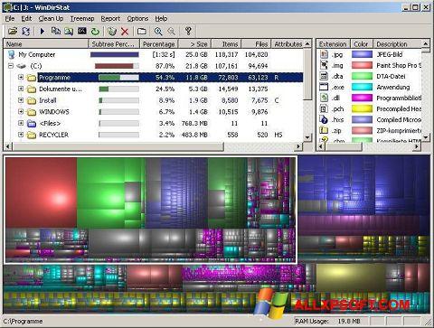 Ekrānuzņēmums WinDirStat Windows XP