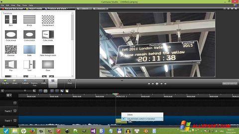 Ekrānuzņēmums Camtasia Studio Windows XP