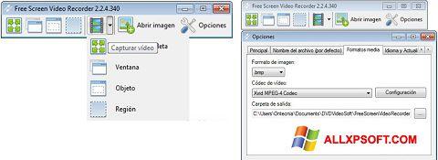Ekrānuzņēmums Free Screen Video Recorder Windows XP