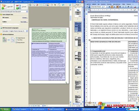 Ekrānuzņēmums ABBYY PDF Transformer Windows XP