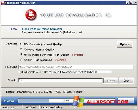 Ekrānuzņēmums Youtube Downloader HD Windows XP