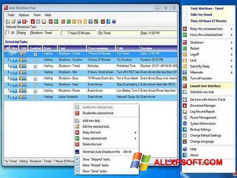 Ekrānuzņēmums Auto ShutDown Windows XP