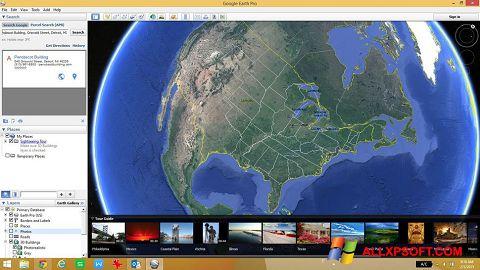 Ekrānuzņēmums Google Earth Windows XP